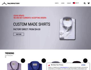 tailorfactory.com screenshot