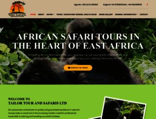 tailorsafaris.com screenshot