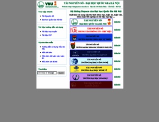 tainguyenso.vnu.edu.vn screenshot