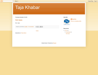 tajapostkhabar.blogspot.com screenshot