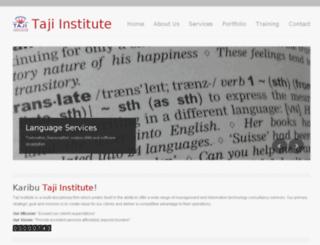 taji-institute.com screenshot