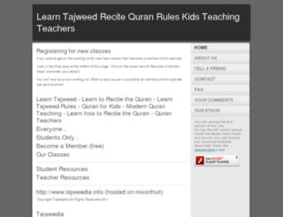 tajweedia.moonfruit.com screenshot