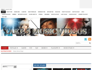take5musicvideos.info screenshot