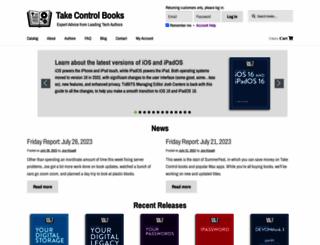 takecontrolbooks.com screenshot