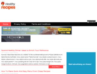 takehealthyrecipes.com screenshot