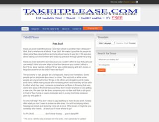 takeitplease.com screenshot
