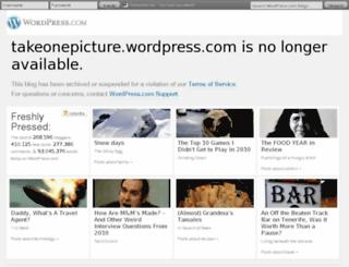 takeonepicture.wordpress.com screenshot