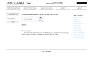 takesunset.idxbroker.com screenshot