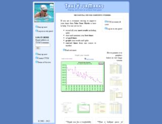 takeyourmarks.com screenshot