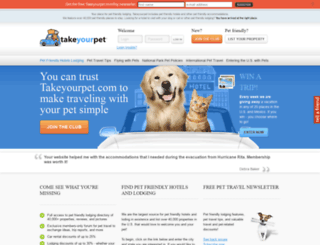 takeyourpet.com screenshot