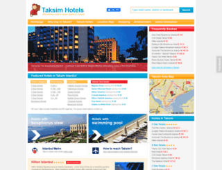 taksimhotels.com screenshot