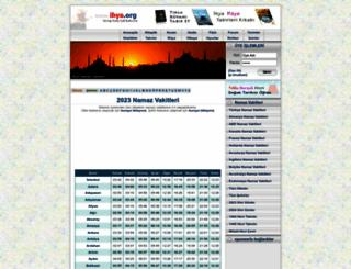 takvim.ihya.org screenshot