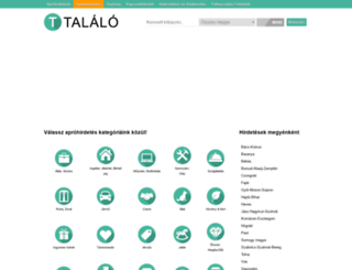 talalo-talalo.hu screenshot