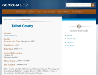 talbotcounty.georgia.gov screenshot