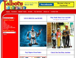 talbotstoyland.com screenshot