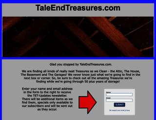 taleendtreasures.com screenshot