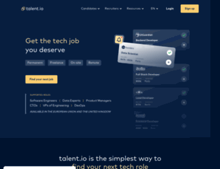 talentclub.io screenshot