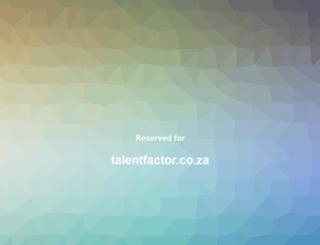 talentfactor.co.za screenshot