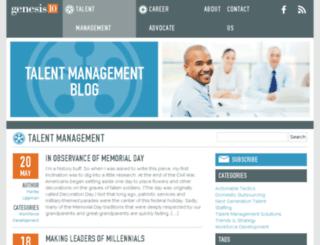 talentmanagement.genesis10.com screenshot