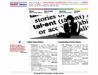 talentmatters.co.in screenshot