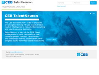 talentneuron.cebglobal.com screenshot