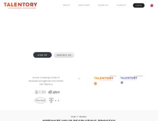 talentory.com screenshot