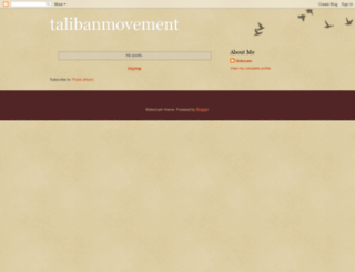 talibanmovement.blogspot.com screenshot