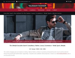 talismanfashion.com screenshot