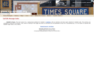 talk.nycsubway.org screenshot
