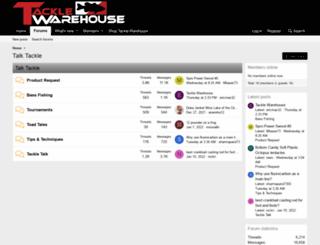 talk.tacklewarehouse.com screenshot