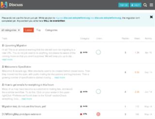 talk.webplatform.org screenshot