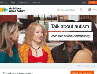 talkaboutautism.org.uk screenshot