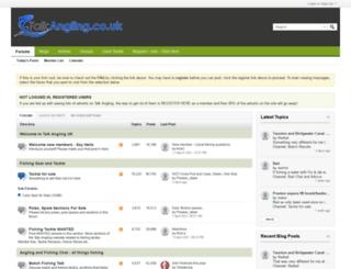 talkangling.co.uk screenshot
