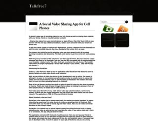 talkfree7.blogspot.in screenshot