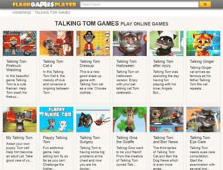 talking-tom.flashgamesplayer.com screenshot