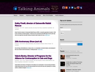 talkinganimals.net screenshot