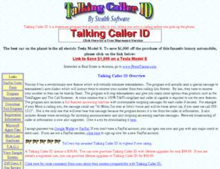 talkingcallerid.com screenshot