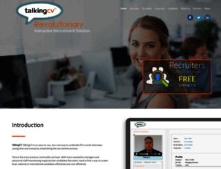 talkingcv.com screenshot