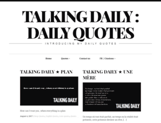 talkingdaily.info screenshot