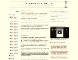 talkingnewmedia.blogspot.com screenshot