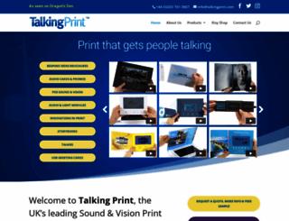 talkingprint.com screenshot