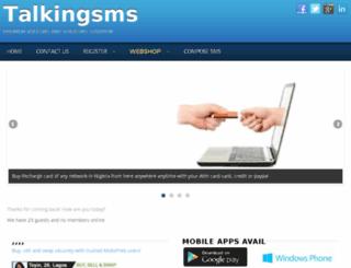 talkingsms.net screenshot