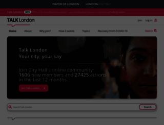 talklondon.london.gov.uk screenshot