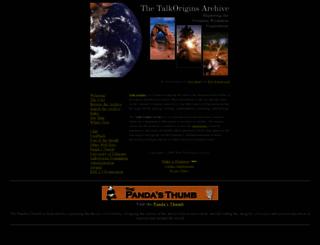 talkorigins.org screenshot