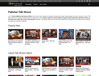 talkshows.tv.com.pk screenshot