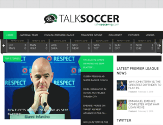 talksoccerng.com screenshot
