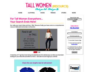 tall-women-resource.com screenshot