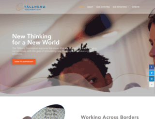 tallbergfoundation.org screenshot