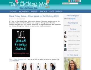 tallclothingmall.com screenshot