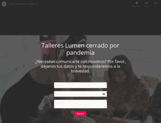 tallereslumen.cl screenshot